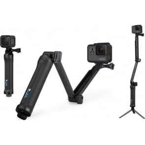 3 Way Mount Tripod for Go Pro Action Camera