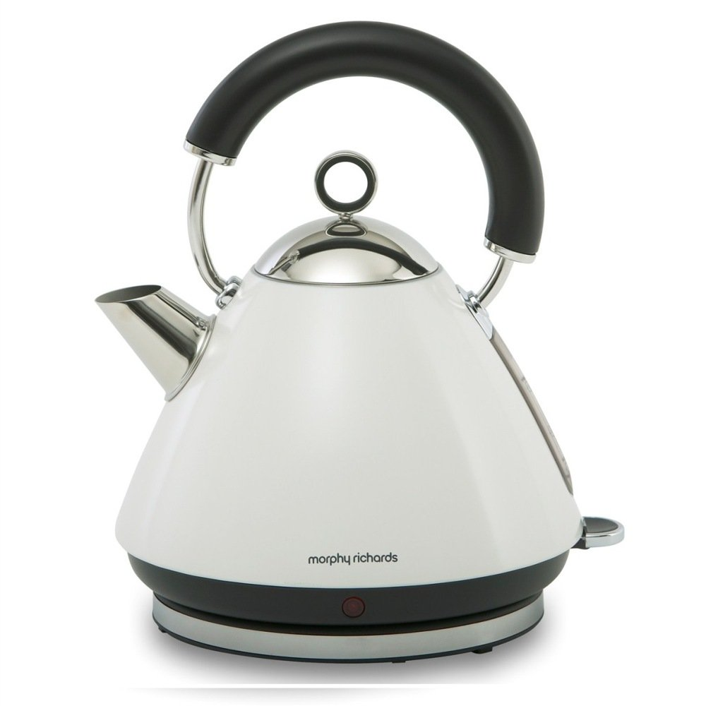 morphy richards accents white kettle free next day jersey delivery. Black Bedroom Furniture Sets. Home Design Ideas
