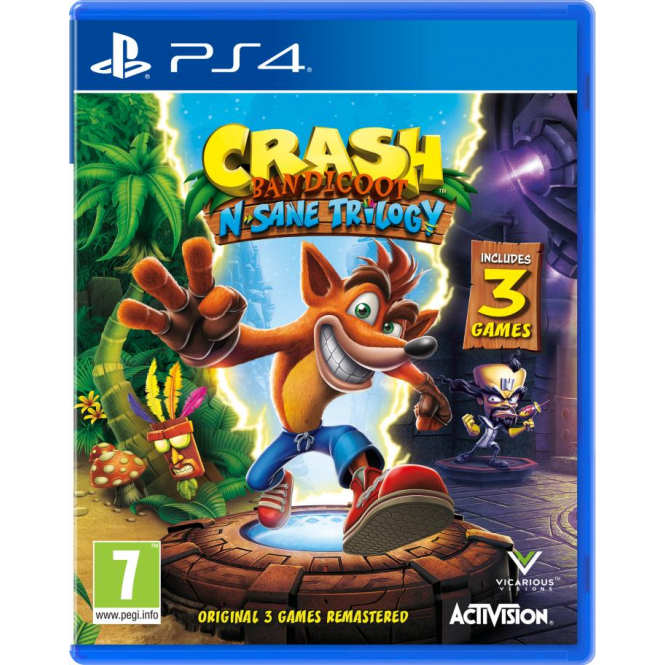 Activision Crash Bandicoot Remastered PS4