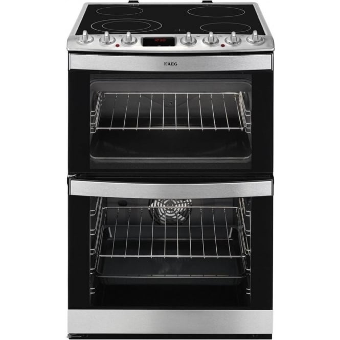 AEG 47102VMN 60cm Electric Cooker, Stainless Steel