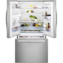 AEG French Door Side by Side A+ Fridge Freezer, Silver