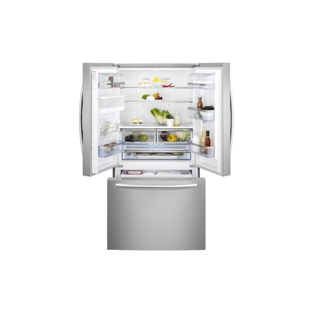 Non Stainless Steel Appliances Aeg S76010cmx2 A American Style Fridge Freezer With Non Plumbed