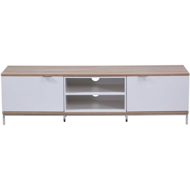 Alphason ADCH1600WHT Chaplin White Oak TV Stand