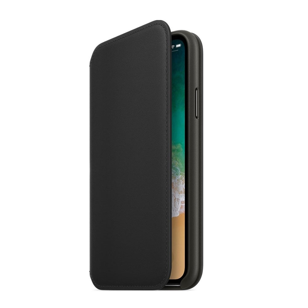 Apple iphone x leather folio black apple from for Apple product book