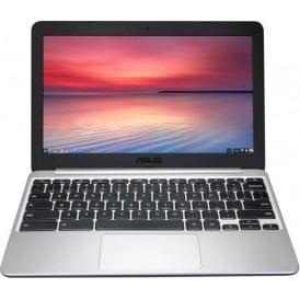 """C201PA 11.6"""" 2GB RAM, 16GB eMMC Chromebook, Blue/Silver"""