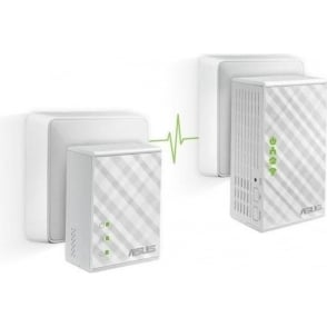 PL-N12 KIT Powerline Extender, Wi-Fi N300, AV500, 2 Ports, No Configuration, Compatible with Other Brand's Adapters