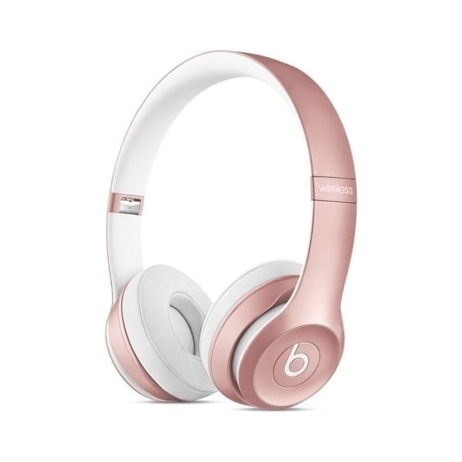 Beats MLLG2ZM/A Solo2 Wireless On-Ear Headphones, Rose Gold