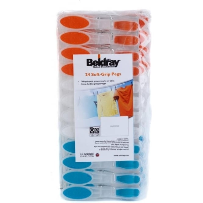 BELDRAY Clothes Pegs, Pack of 24
