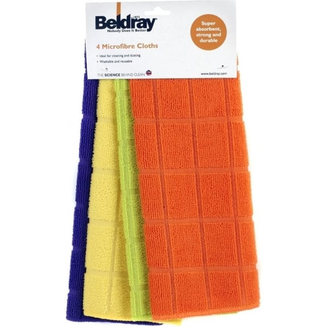BELDRAY Microfibre Cloths 4pk