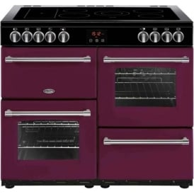 Belling Farmhouse 100E Range Cooker, Berry