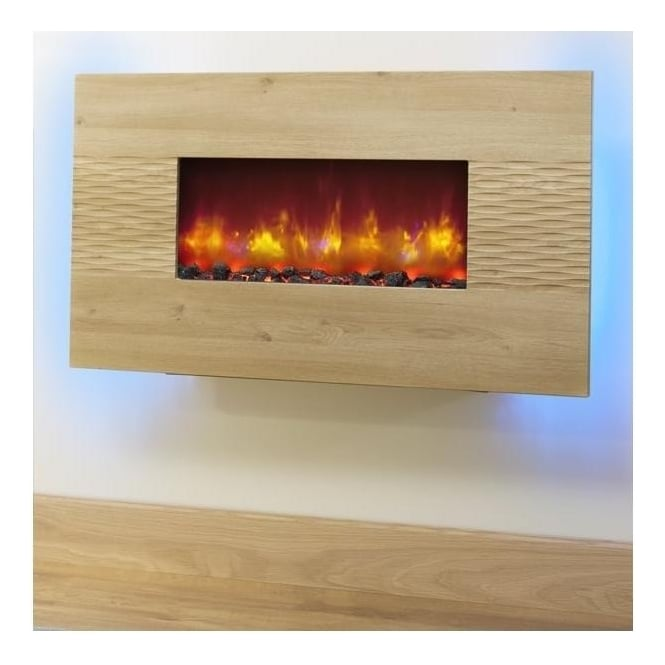 "BEMODERN 36"" Orlando Oak Electric Fire"