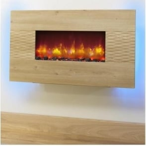 "36"" Orlando Oak Electric Fire"