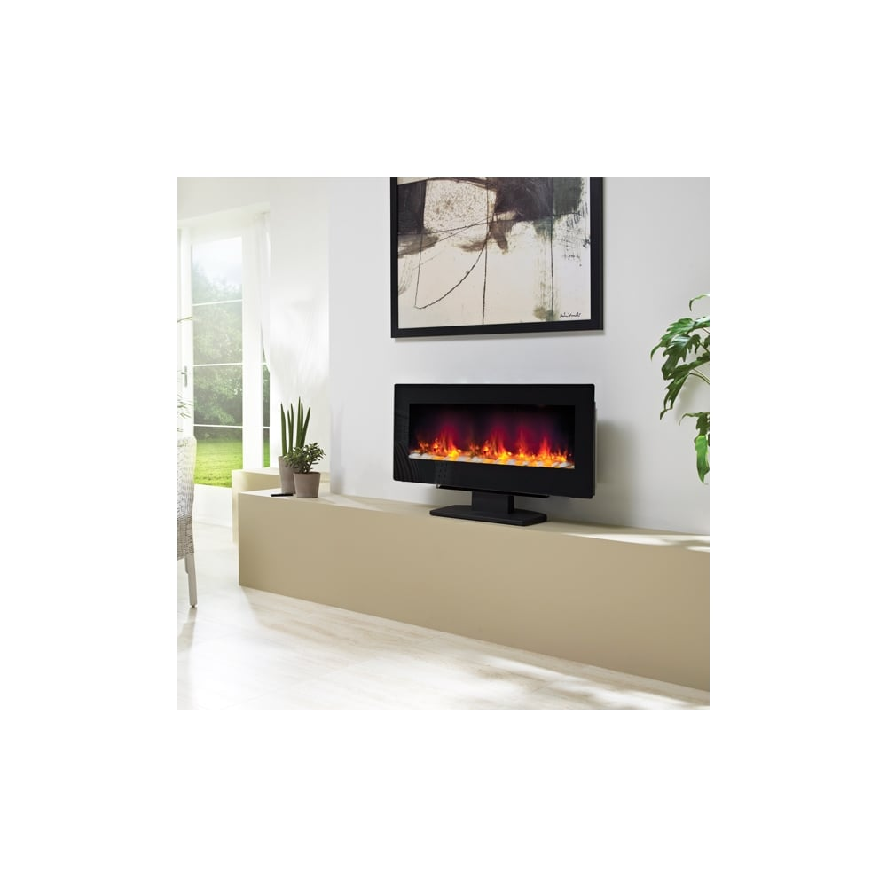 Contemporary Free Standing Electric Fires: BEMODERN Amari Wall Mounted Or Free Standing Electric Fire