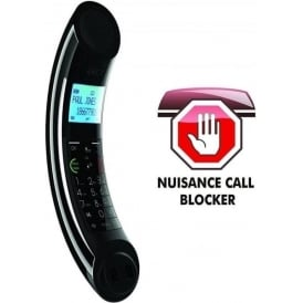 Eclipse Plus Dect Phone with Call Blocker Single, Black