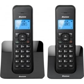 Twin DECT Digital Cordless Telephone with Answer Machine, Black