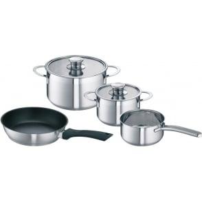 4pc Stainless Steel Pan Set