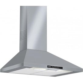 DWW07W450B Chimney Extractor Cooker Hood, Brushed Steel