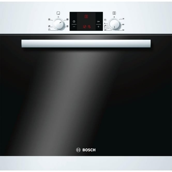 Bosch HBA13B120B Built-in Single 3D Hot Air Oven, White