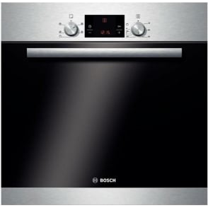 HBA13R150B Electric Single Oven, Brushed Steel