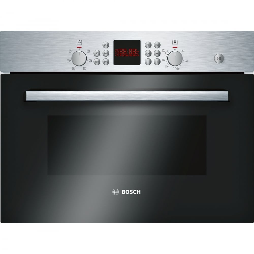 Bosch HBC84H501B Built-in Compact Combi Microwave Oven with Grill, Brushed Steel - Home ...