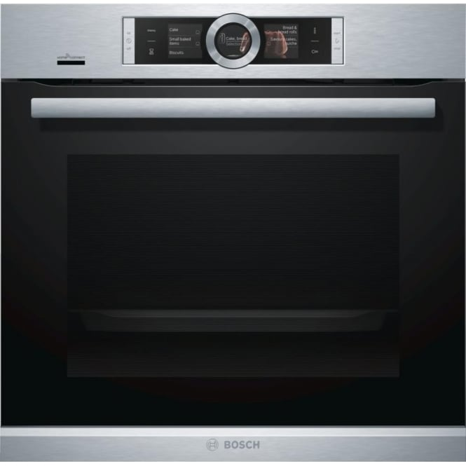Bosch HBG6764S6B Series 8 60cm Single Pyrolytic Oven, Brushed Steel