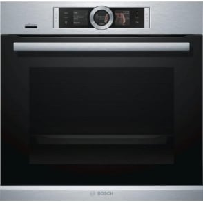 HBG6764S6B Series 8 60cm Single Pyrolytic Oven, Brushed Steel