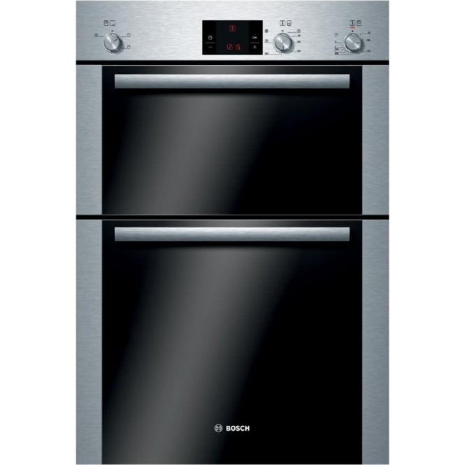 Bosch HBM13B251B Electric Built In Double Oven, Brushed Steel