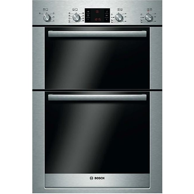 Bosch HBM53R550B Electric Built In Double Oven, Brushed Steel