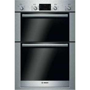 HBM53R550B Electric Built In Double Oven, Brushed Steel