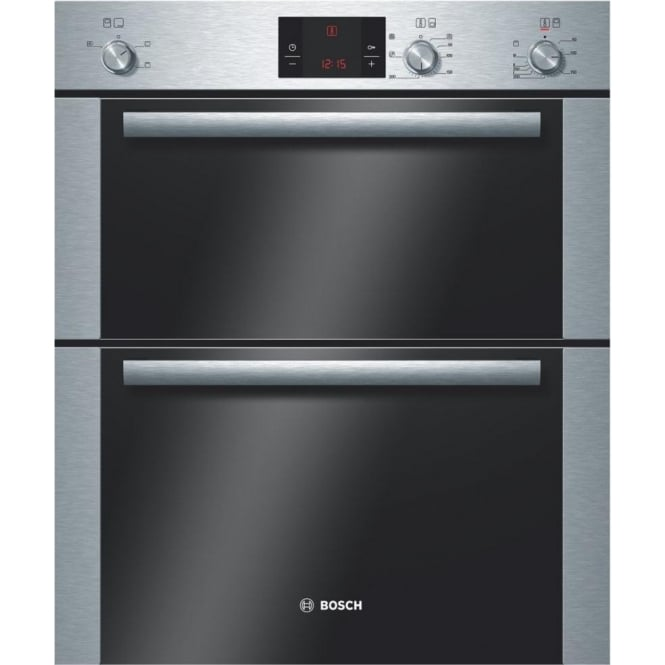 Bosch HBN13B251B Electric Built Under Double Oven, Brushed Steel