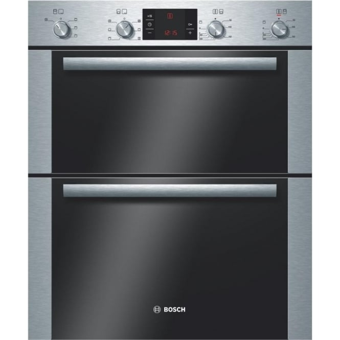 Bosch HBN43B250B Electric Built Under Double Oven, Brushed Steel