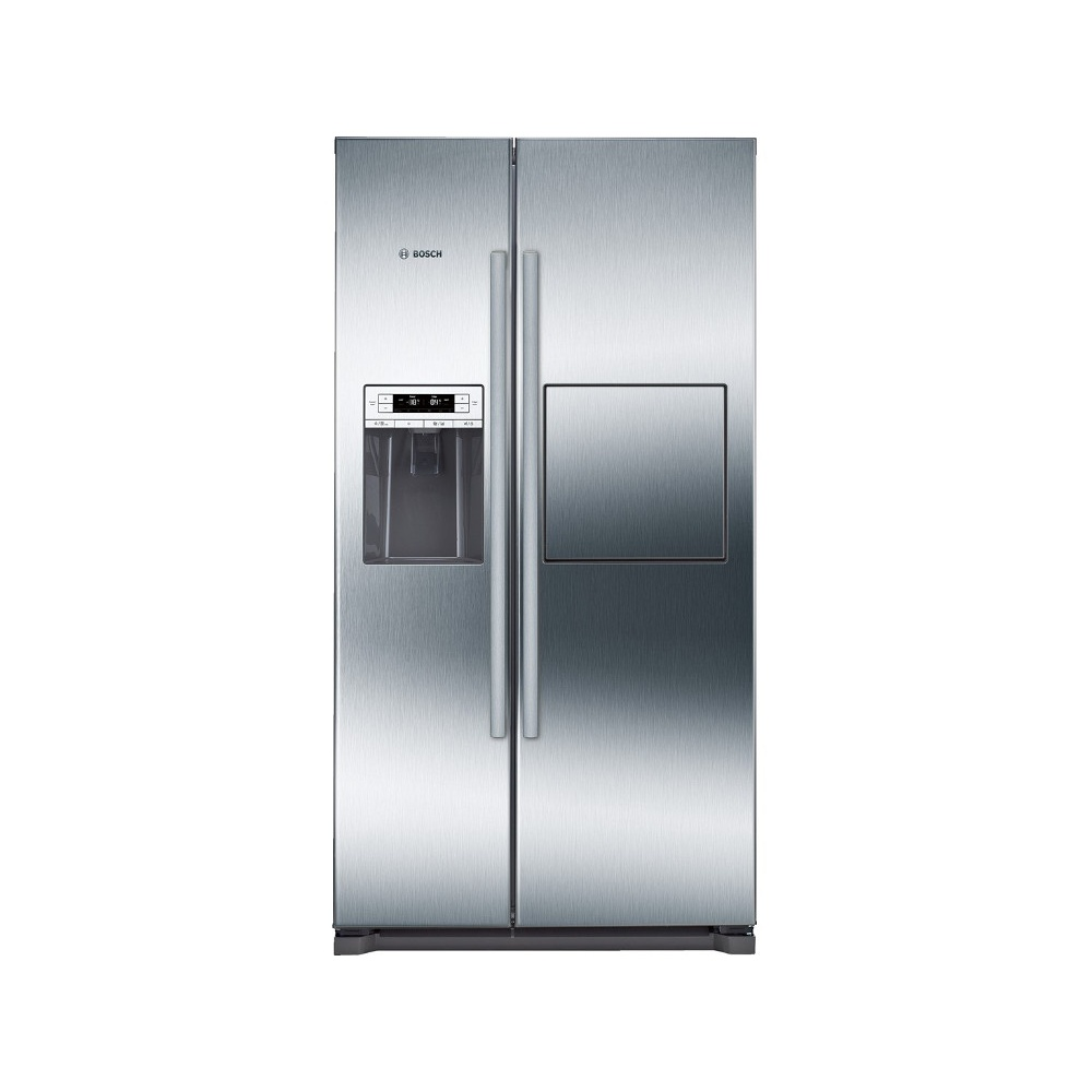 American Fridge With Ice Dispenser Part - 17: Bosch KAG90AI20G A+ American Style Fridge Freezer With Plumbed Water U0026 Ice  Dispenser, Stainless Steel ...