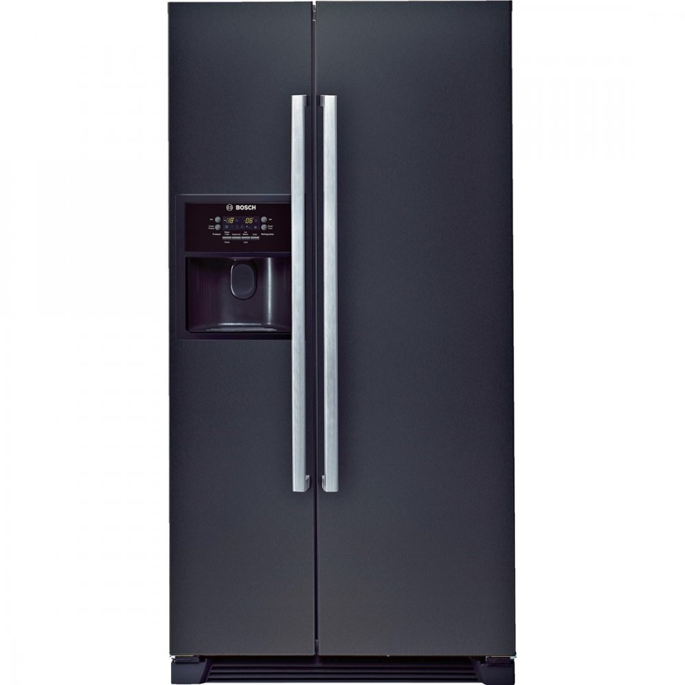 American Fridge With Ice Dispenser Part - 40: Bosch KAN58A55GB A+ American Style Fridge Freezer With Plumbed Water U0026 Ice  Dispenser, Black ...