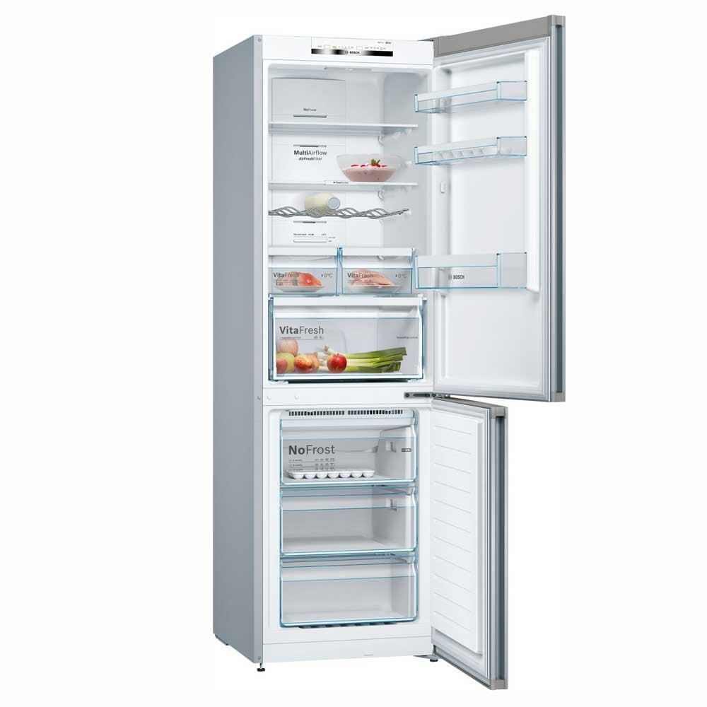 Bosch KGN36IJ3AG Serie 4 NoFrost, VitaFresh, Vario Style A++ Energy Rating  Fridge Freezer with x1 Set Coloured Door Panels*