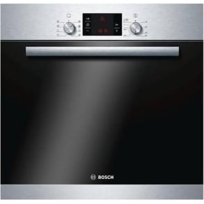 Serie 6 HBA63B150B Electric Built-In 63 litre Single Oven, Silver, Black