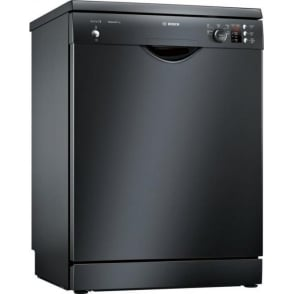 SMS25AB00G ActiveWater 60cm, 12 Place Setting A++ Freestanding Dishwasher, Black