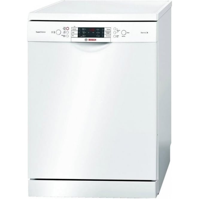 Bosch SMS69M22GB ActiveWater Freestanding 60cm A++ Dishwasher, White