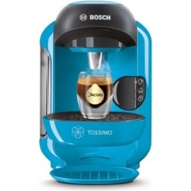 TAS1255GB Tassimo Vivy 2 Coffee Machine, Blue