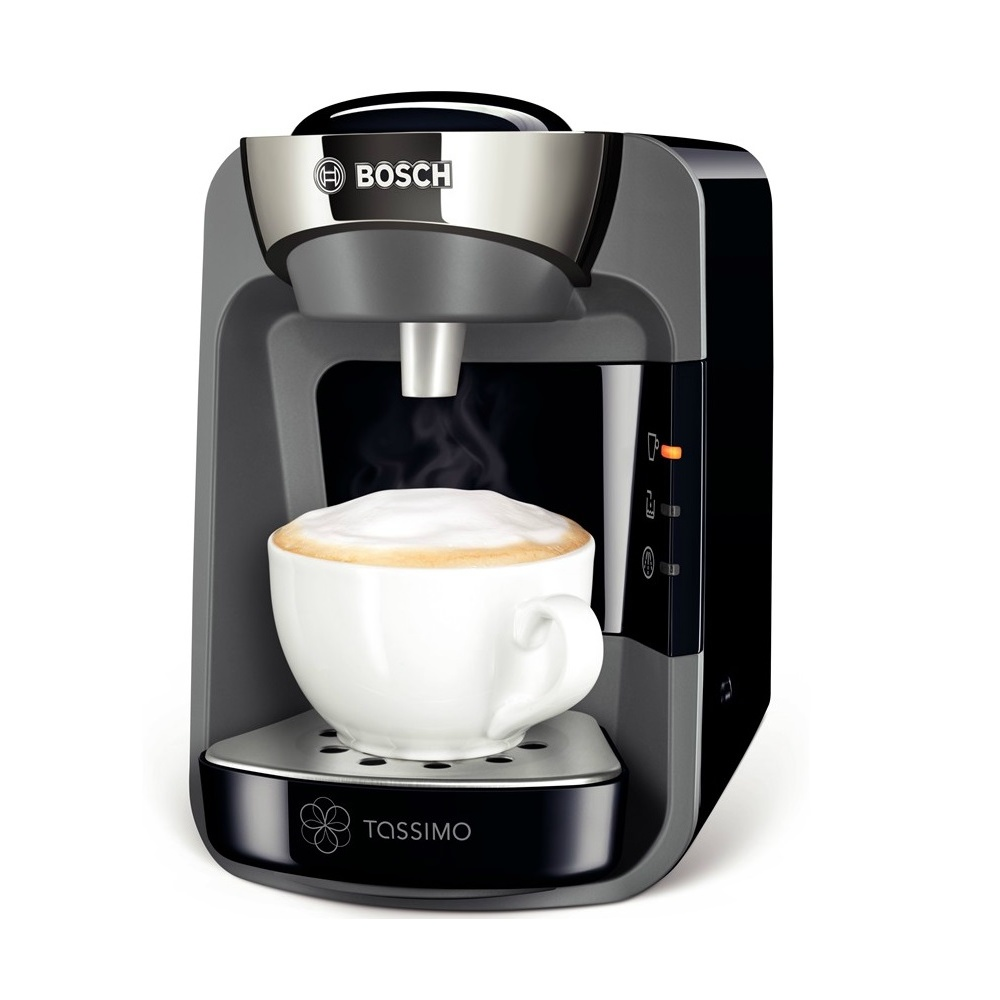 bosch tas3202gb tassimo coffee machine hot drinks maker midnight black bosch from. Black Bedroom Furniture Sets. Home Design Ideas