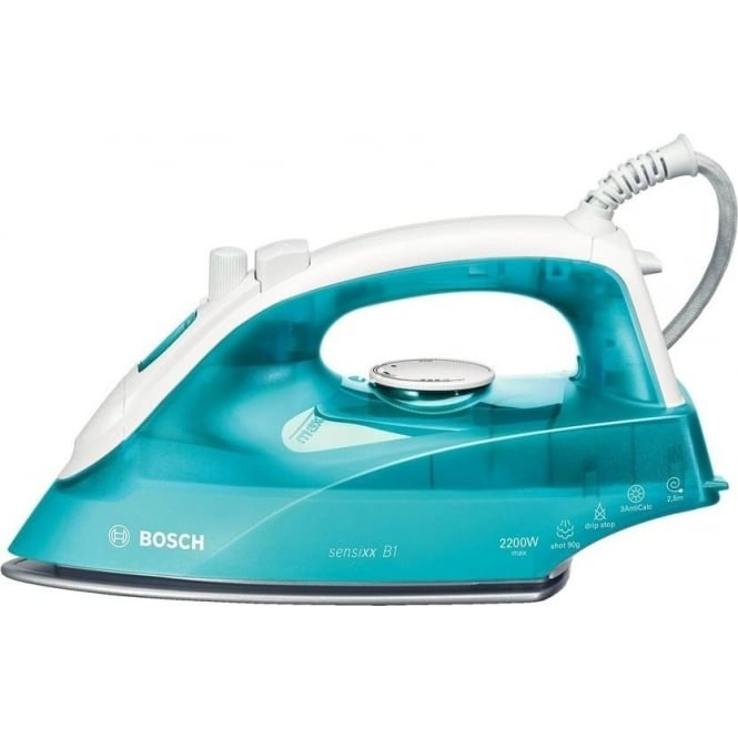 Bosch TDA263 2200W Steam Iron, White Turquoise