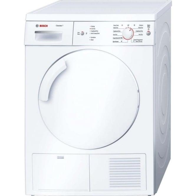 Bosch WTE84106GB 7kg Condenser Tumble Dryer, White