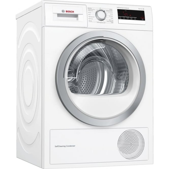Bosch WTM85230GB 8kg Load, A++ Energy Rating Condenser Tumble Dryer with Heat Pump, White