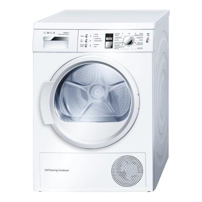 Bosch WTW863S1GB 7kg Heat Pump Condenser Dryer, White