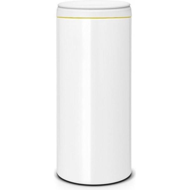 Brabantia 106866 30L Flip Lid Bin, White