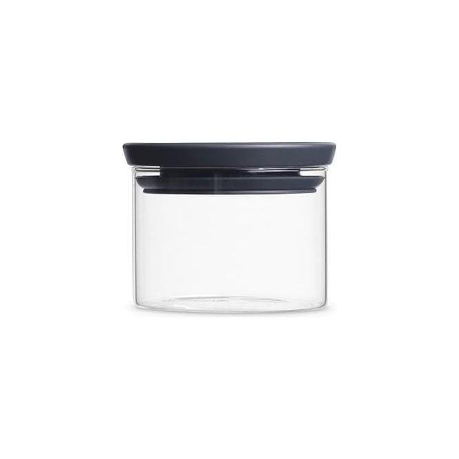 Brabantia 298301 Stackable Glass Jar 0.3 Litre, Dark Grey