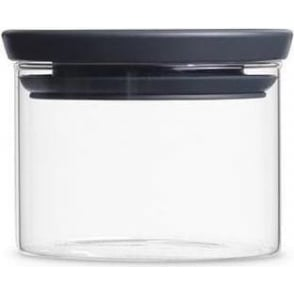 298301 Stackable Glass Jar 0.3 Litre, Dark Grey