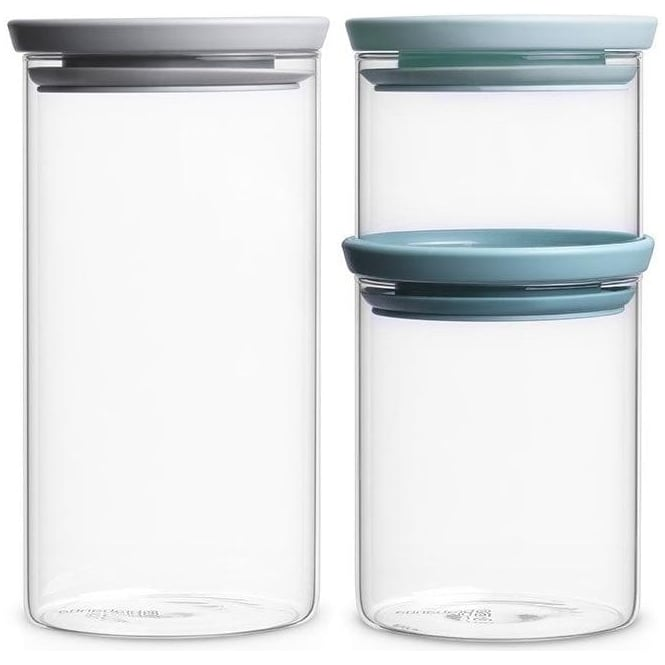 Brabantia 298325 Stackable Glass Jars Set of 3