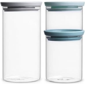 298325 Stackable Glass Jars Set of 3