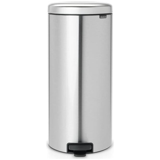 Brabantia 30L newIcon Pedal Bin, Fingerprint Proof Matt Steel