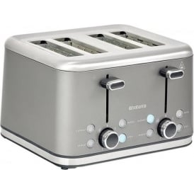4 Slice Toaster, Platinum Stainless Steel